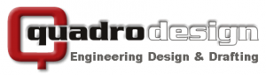 Quadro Logo - 3D (Engineering Design & Drafting - Dk Grey)